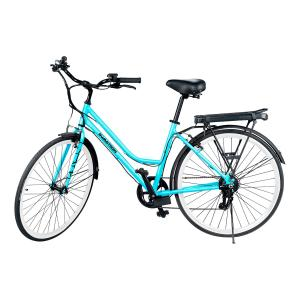 SWAGTRON EB9 Electric City Bike With Shimano 7 SPD Cruiser-Style eBike for Women