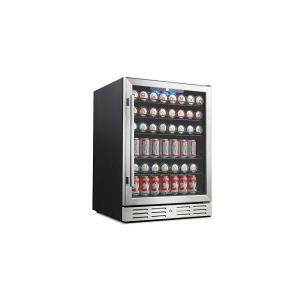 Kalamera 24inch built-in beverage refrigerator 175 can single zone touch control