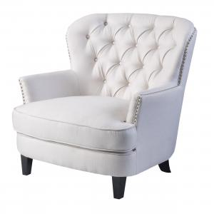 Noble House Taylor Ivory Fabric Club Chair