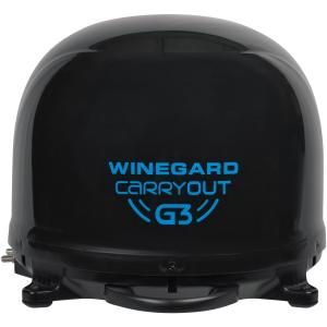 Winegard GM-9035 Carryout G3 Portable Automatic Satellite Antenna (Black) & TR-1518 Carryout Tripod Mount
