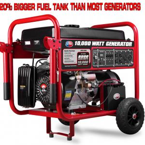All Power 10000 Watt Generator APGG10000, 10000W Gas Portable Generator with Electric Start for Home Emergency Power Backup, RV Standby, Storm Hurricane Damage Restoration, EPA Certified