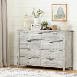 South Shore Lionel 9-Drawer Double Dresser, Multiple Finishes