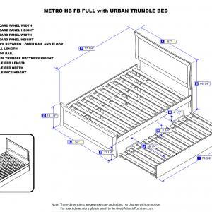Metro Platform Bed with Matching Foot Board with Twin Size Urban Trundle Bed, Multiple Colors and Sizes