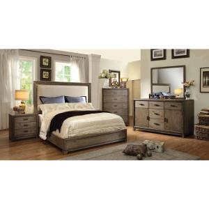 Furniture of America Traline Rustic 5-Drawer Chest, Natural Ash