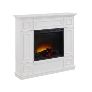 Bold Flame 43.31 inch Electric Fireplace in White
