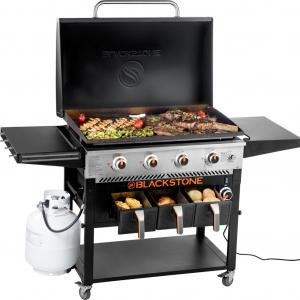 Blackstone 4-Burner 36″ Griddle With Air Fryer and Hood