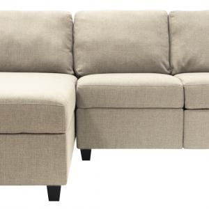 Serta Palisades Reclining Sectional with Left Storage Chaise – Oatmeal