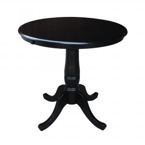 International Concepts Newbern 36 in. Round Top Pedestal Dining Table with 12 in. Leaf
