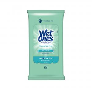 (10 Pk) Wet Ones Sensitive Skin Hand Wipes Travel Pack, 20 Ct