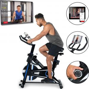 EXERPEUTIC Bluetooth LX 3000 Indoor Cycling Exercise Bike with MyCloudFitness App [4210]