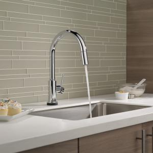 Delta Trinsic Single Handle Pull-Down Kitchen Faucet with Touch2O® Technology in Chrome 9159T-DST