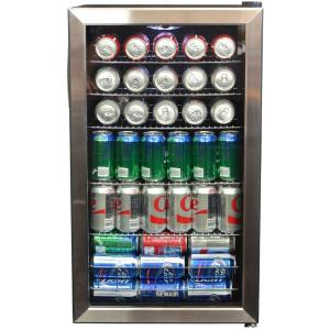 New Air 126-Can Stainless Steel Freestanding Beverage Center