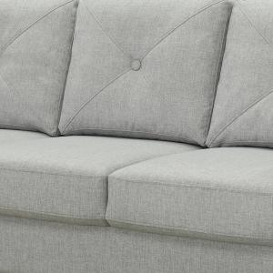 Abbyson Florence Fabric Sofa, Heather Gray