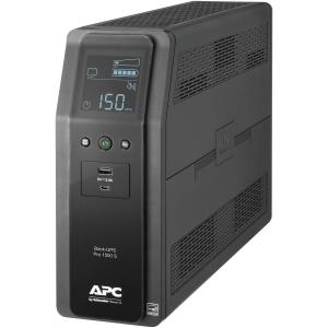 APC UPS, 1500VA Sine Wave UPS Battery Backup & Surge Protector with AVR, 2 USB Charging Ports, LCD Uninterruptible Power Supply, Back-UPS Pro Series (BR1500MS)