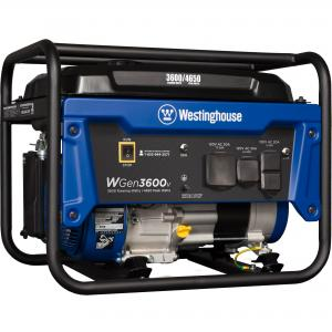 Westinghouse WGen3600v Portable Generator – 3600 Rated Watts & 4650 Peak Watts – Gas Powered – CARB Compliant