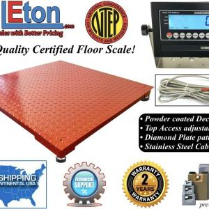 NEW NTEP Legal Industrial warehouse 48″ x 48″ 4′ x 4′ Floor scale 10,000 x 2 lb