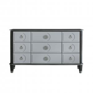 Beatrice Dresser in Charcoal & Pearl White Finish