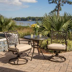 Hanover Traditions Deep-Cushioned Outdoor Swivel-Rockers – Set of 2