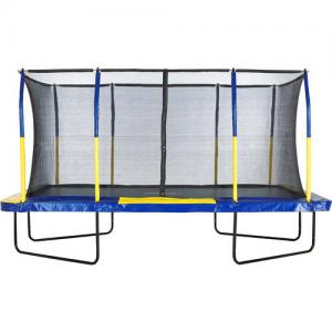 Upper Bounce Rectangle 9 x 15 Foot Trampoline, Blue/Yellow