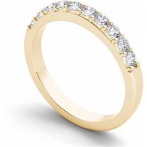 1/2 Carat T.W. Diamond 14kt Yellow Gold Wedding Band