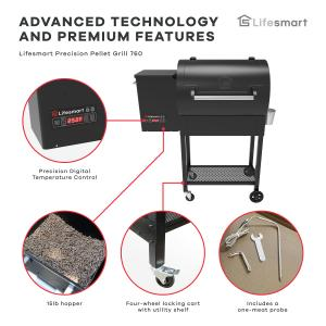 Lifesmart 35″ Precision Wood Pellet Grill