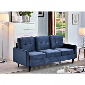 Brodde Velvet Sofa, Dark Blue