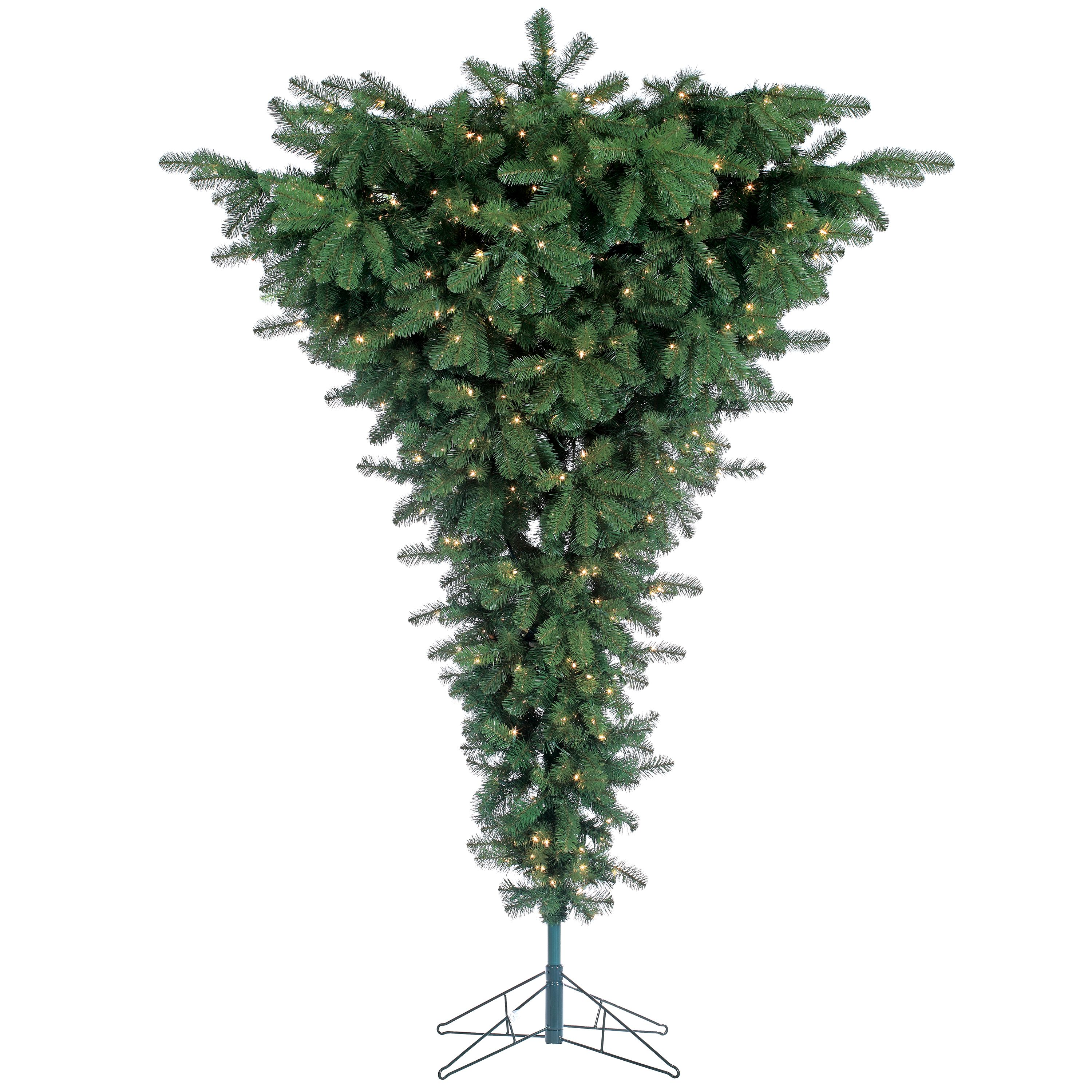 Sterling 7.5Ft Pre-Lit Upside Down Floor Tree with 600 clear lights